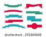 ribbon lebel set | Shutterstock .eps vector #253364608