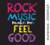 rock music message   typography ... | Shutterstock .eps vector #253365115