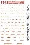 simple linear vector icon set... | Shutterstock .eps vector #253367692