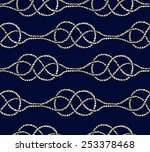 seamless pattern with marine... | Shutterstock .eps vector #253378468