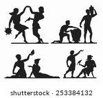 Greek Silhouettes. Dancing...