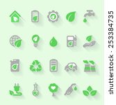 ecology icons set with... | Shutterstock .eps vector #253384735