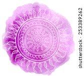 mandala violet | Shutterstock .eps vector #253389262