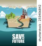 save of future. vector... | Shutterstock .eps vector #253406842