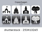 landmarks of copenhagen. set of ... | Shutterstock .eps vector #253413265