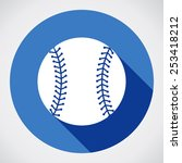 baseball ball sign icon. sport... | Shutterstock .eps vector #253418212