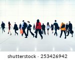 commuter buiness people... | Shutterstock . vector #253426942