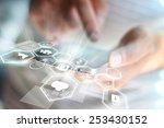 social media concept.   Shutterstock . vector #253430152