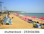 sandown  isle of wight  uk july ... | Shutterstock . vector #253436386