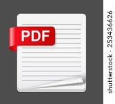 pdf file icon  vector eps10...