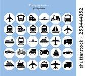 transport icons transportation... | Shutterstock .eps vector #253444852