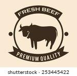 fresh beef design  vector... | Shutterstock .eps vector #253445422