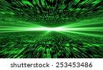 matrix 3d   flying through...   Shutterstock . vector #253453486
