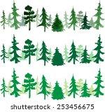 seamless stripes with trees | Shutterstock .eps vector #253456675