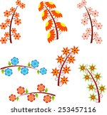 isolated spring blooming...   Shutterstock .eps vector #253457116