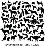 Stock vector cats and dogs silhouette collection 25346221