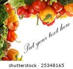 frame of fresh tasty vegetables ...