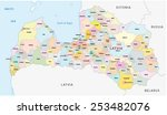 latvia administrative map | Shutterstock .eps vector #253482076