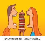 cartoon illustration of couple...