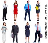 business people set isolated... | Shutterstock . vector #253495546