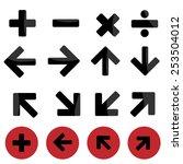 mark icon set made in vector   | Shutterstock .eps vector #253504012