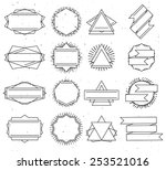 set of outline design elements  ... | Shutterstock .eps vector #253521016