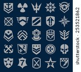 navy military symbol icons | Shutterstock .eps vector #253521862