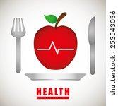 health care design  vector... | Shutterstock .eps vector #253543036
