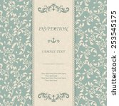 vintage invitation card with... | Shutterstock .eps vector #253545175