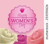 women's day design  vector... | Shutterstock .eps vector #253550626