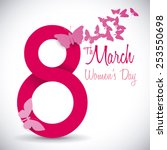 women's day design  vector...   Shutterstock .eps vector #253550698
