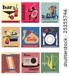 9 Vector Vintage Matchbook...