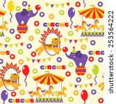 seamless pattern with cute... | Shutterstock .eps vector #253564222
