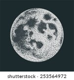 vector moon dotwork | Shutterstock .eps vector #253564972