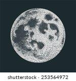vector moon dotwork