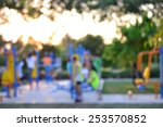 colorful playground with... | Shutterstock . vector #253570852