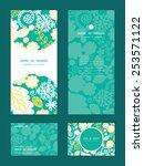 vector emerald flowerals... | Shutterstock .eps vector #253571122