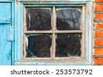 Old Small Shabby Window In...