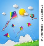 Colorful Kite Flying On The Sk...