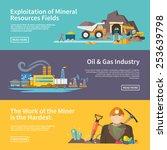 miner work flat horizontal... | Shutterstock .eps vector #253639798