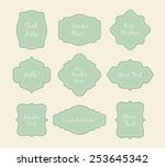set of vintage stickers light... | Shutterstock . vector #253645342