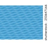 seamless sea pattern. blue and... | Shutterstock .eps vector #253647166