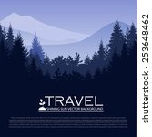 modern landscape background... | Shutterstock .eps vector #253648462