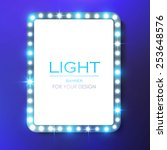 shining square retro light... | Shutterstock .eps vector #253648576