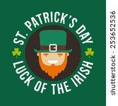 st. patricks day card design.... | Shutterstock .eps vector #253652536