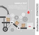 flat design concept for... | Shutterstock .eps vector #253653232