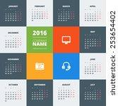 Calendar 2016 Vector Decign...