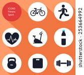icons  sports  fitness  flat...   Shutterstock .eps vector #253664992