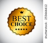 best choice golden label vector ... | Shutterstock .eps vector #253666612