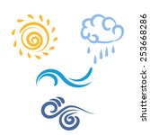 Icon Sun  Rain  Cloud  Wind ...